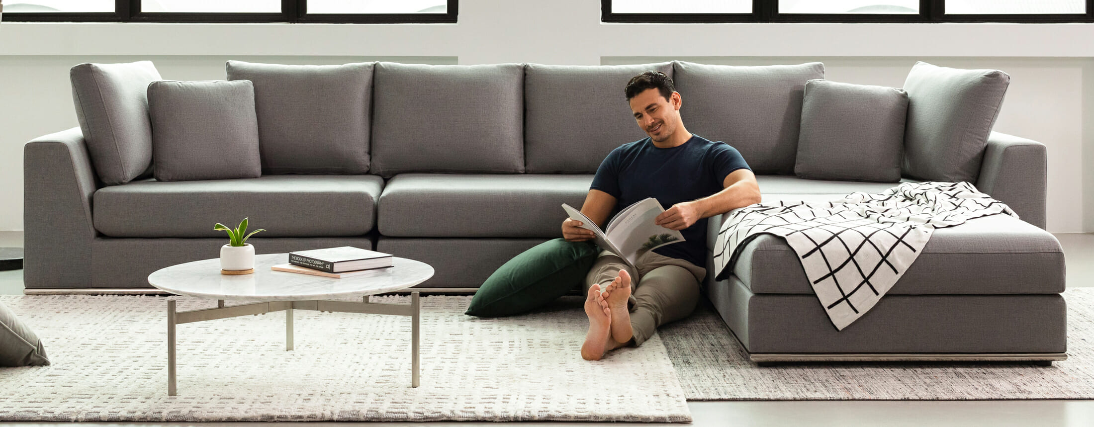Flow sectional - grey