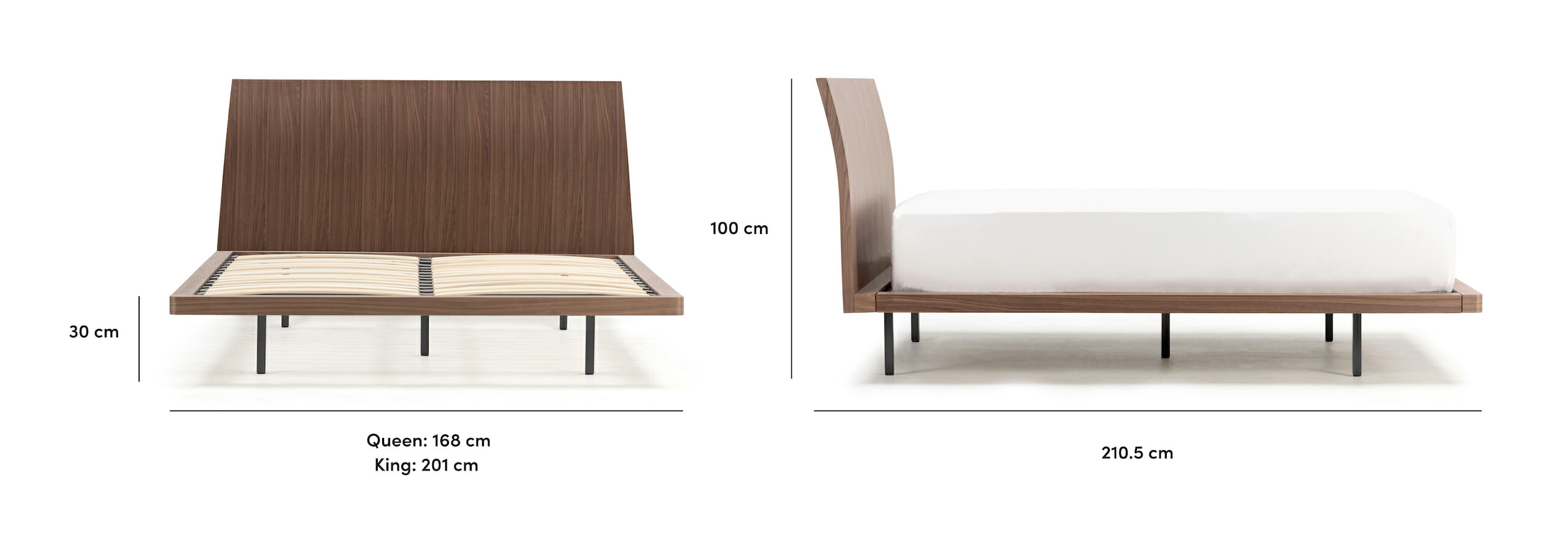 Sunset bed with headboard Singapore dimensions