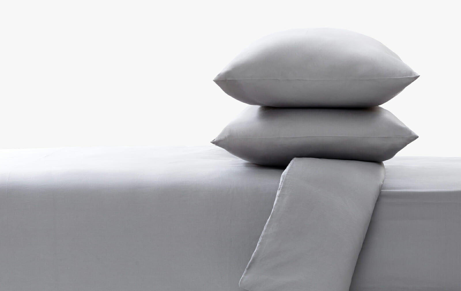 Cotton sateen stone fitted sheet