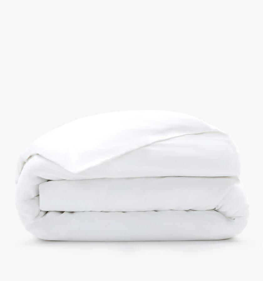 Cotton sateen duvet cover white