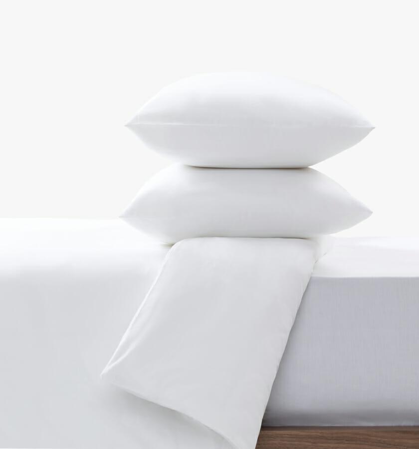 Cotton sateen set white