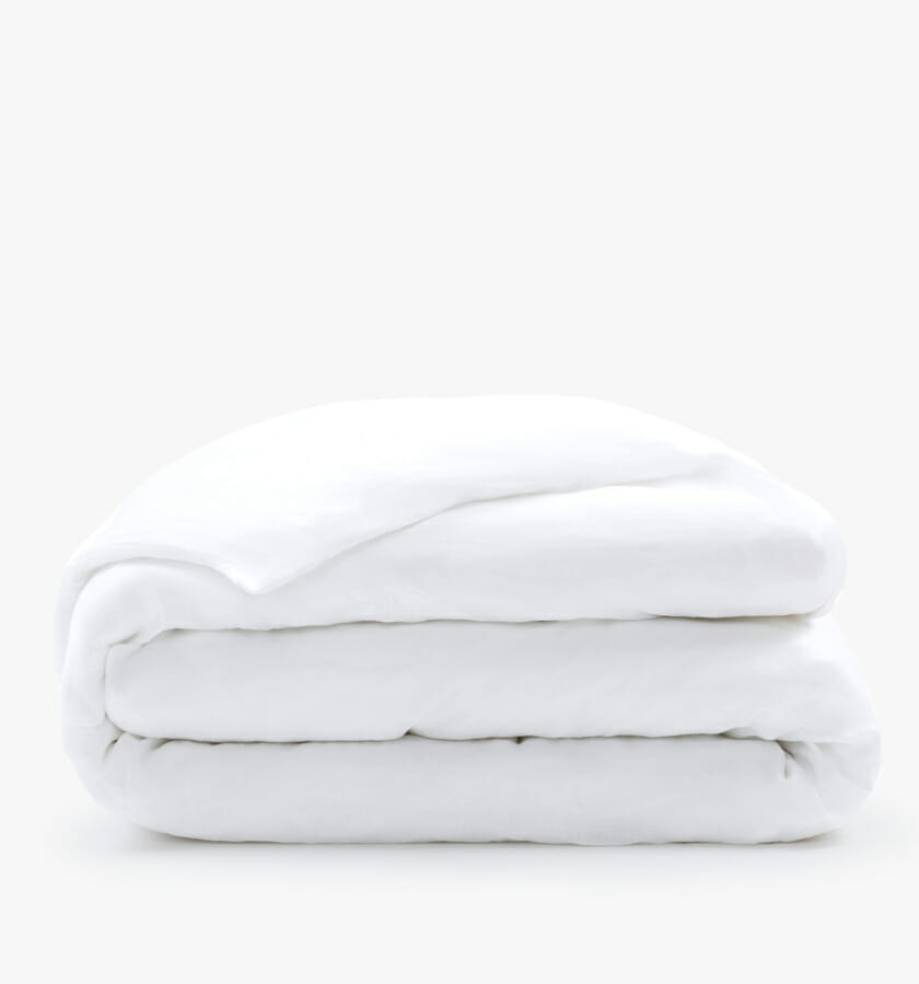 French linen duvet cover white