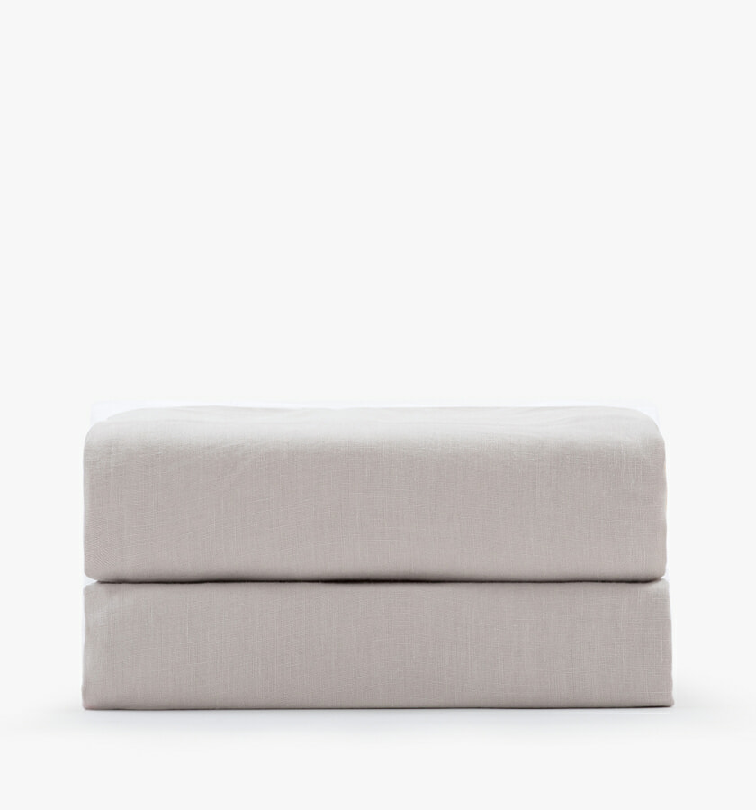 Linen sand fitted sheet