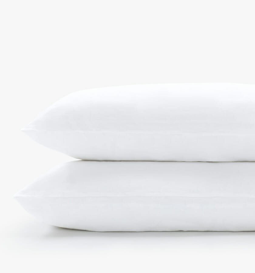 French linen white pillowcases