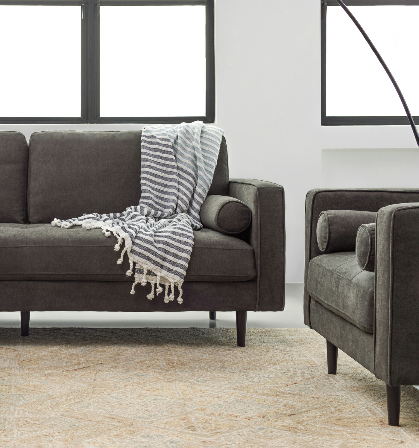 The Soho Sofa - Charcoal