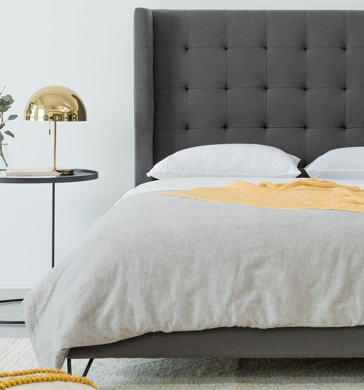 Noa Venice Bed - Charcoal