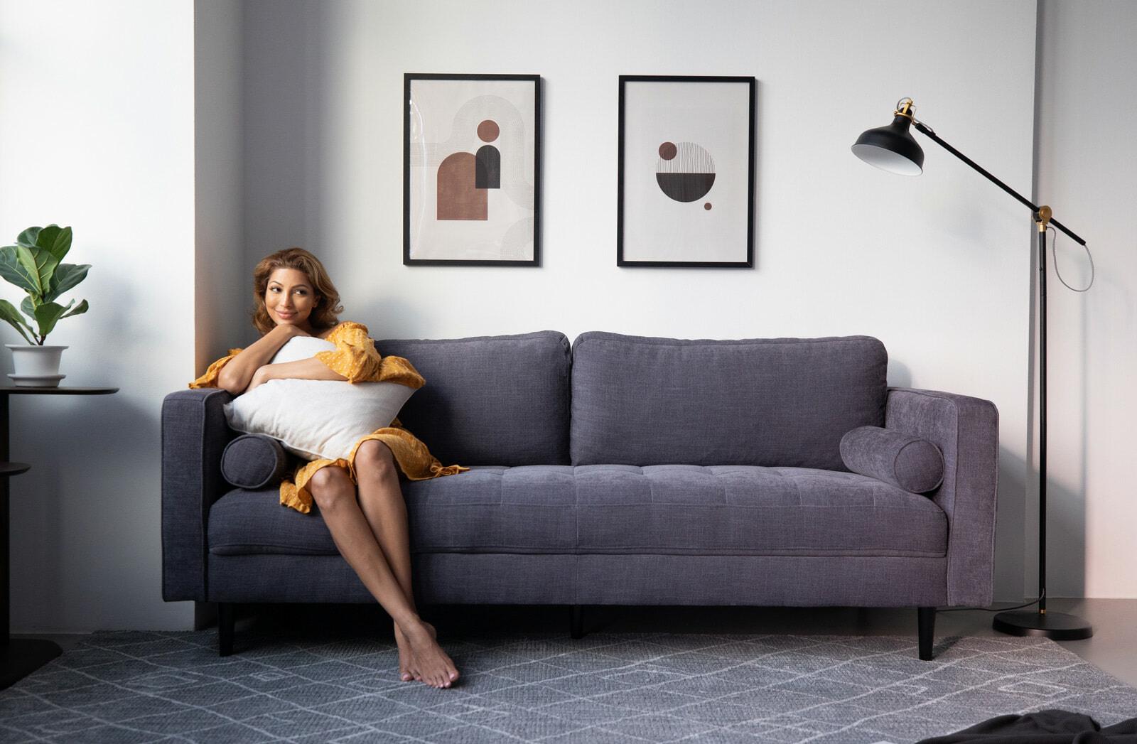 Soho sofa lifestyle - grey