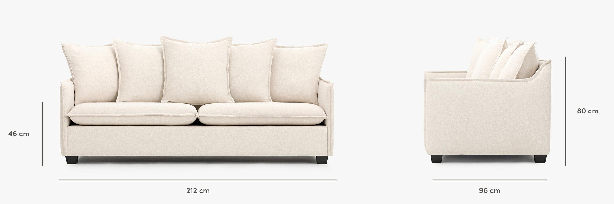 Miami sofa dimensions