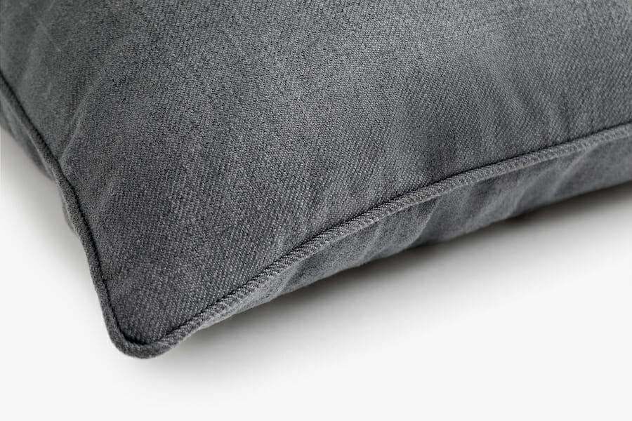 Eden fabric pillow - charcoal