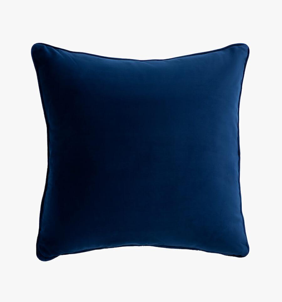 Eden fabric pillow - blue
