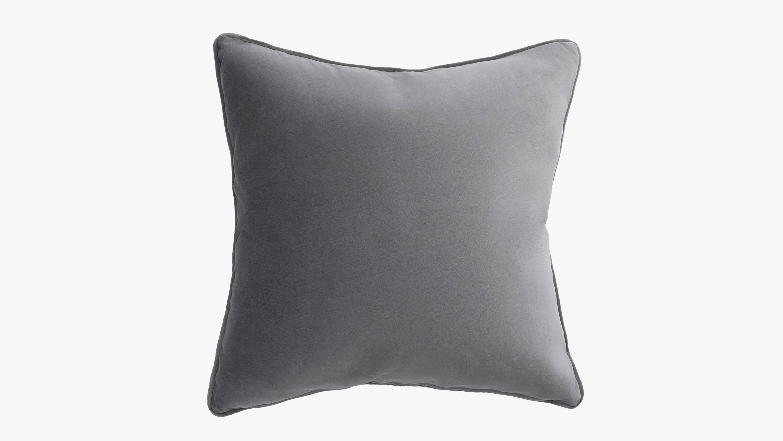 Eden velvet cushion - slate