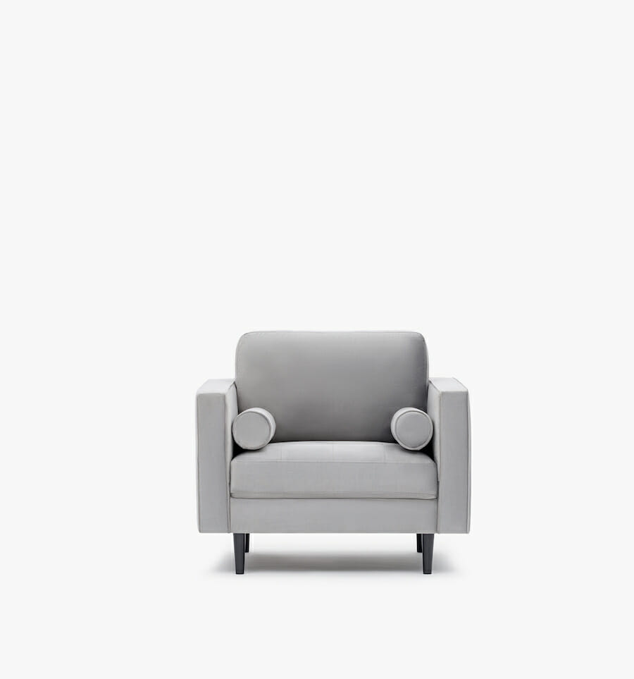 Soho armchair - grey