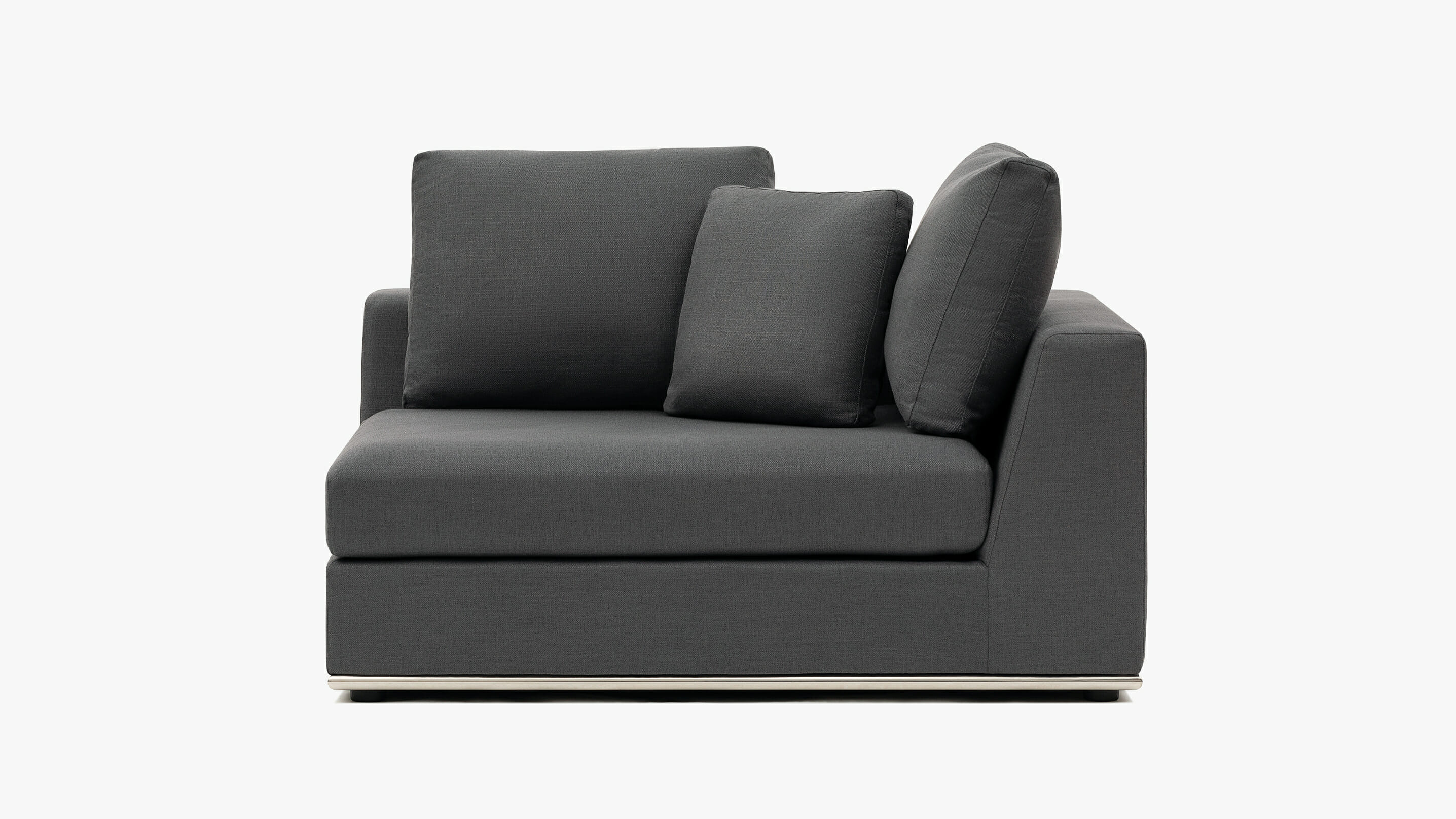 Flow right chair - charcoal