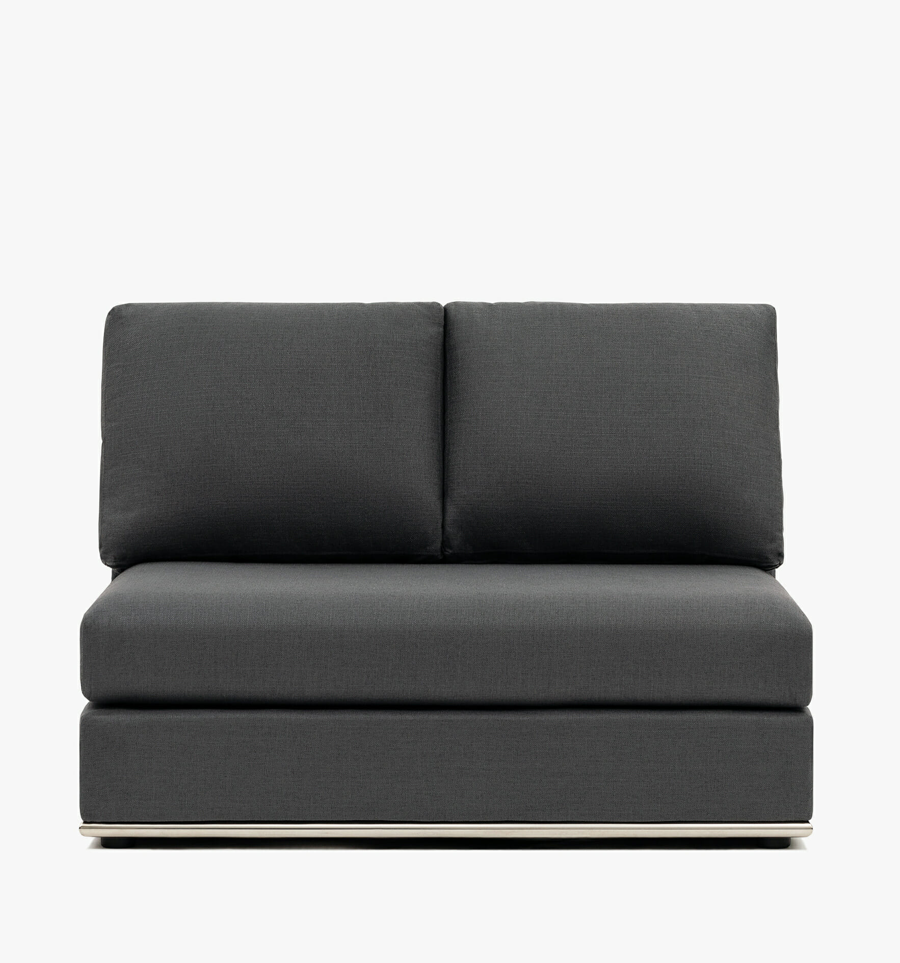 The Flow Armless chair - charcoal