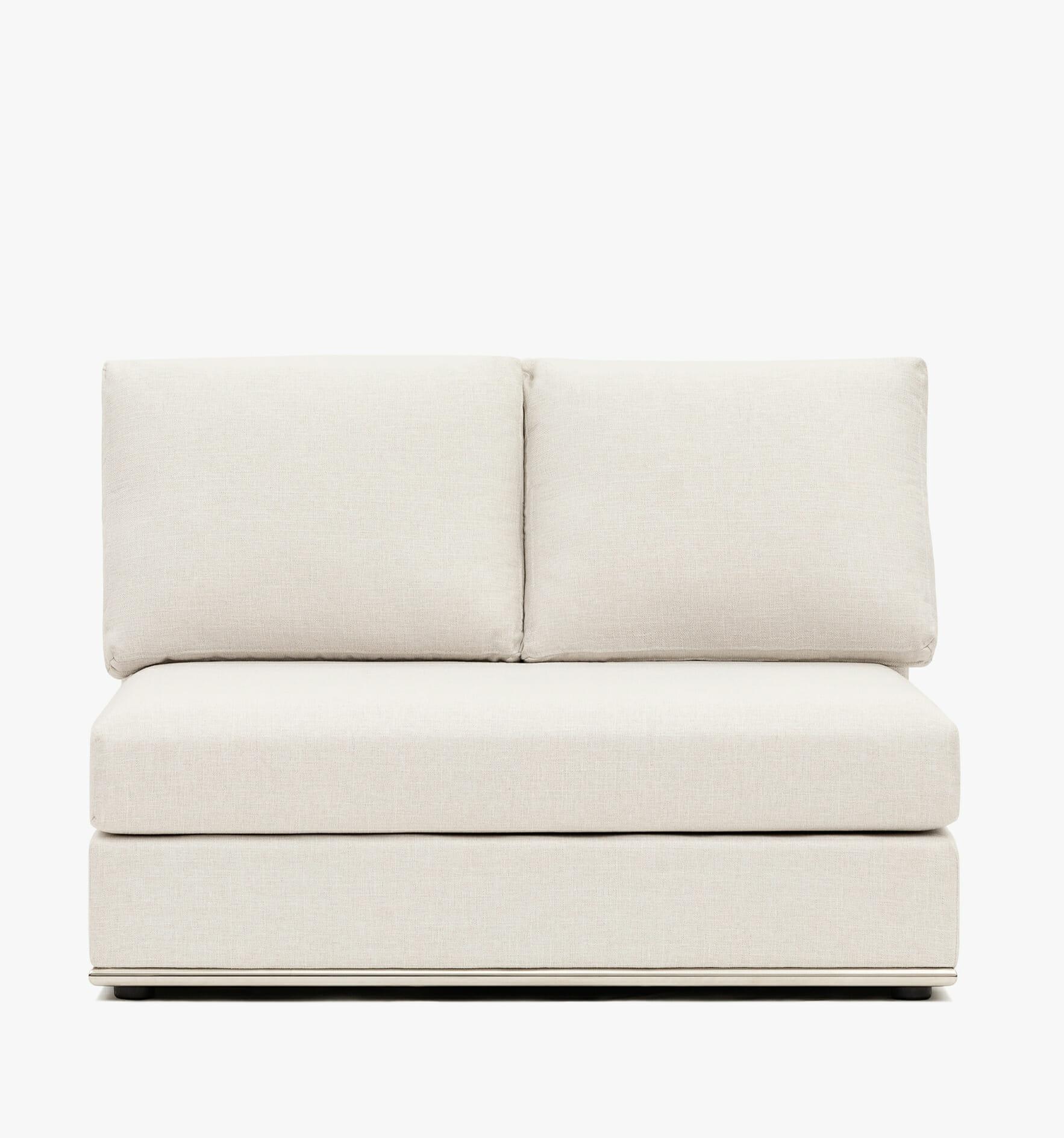 The Flow Armless chair - cream