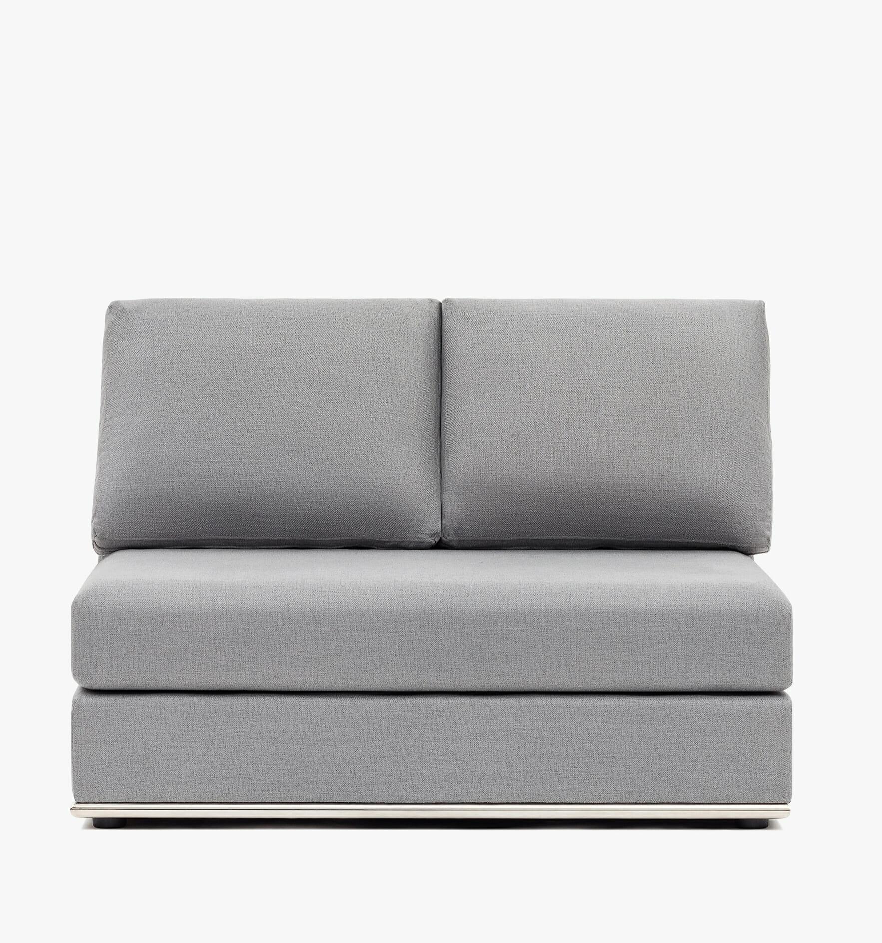 The Flow Armless chair - grey