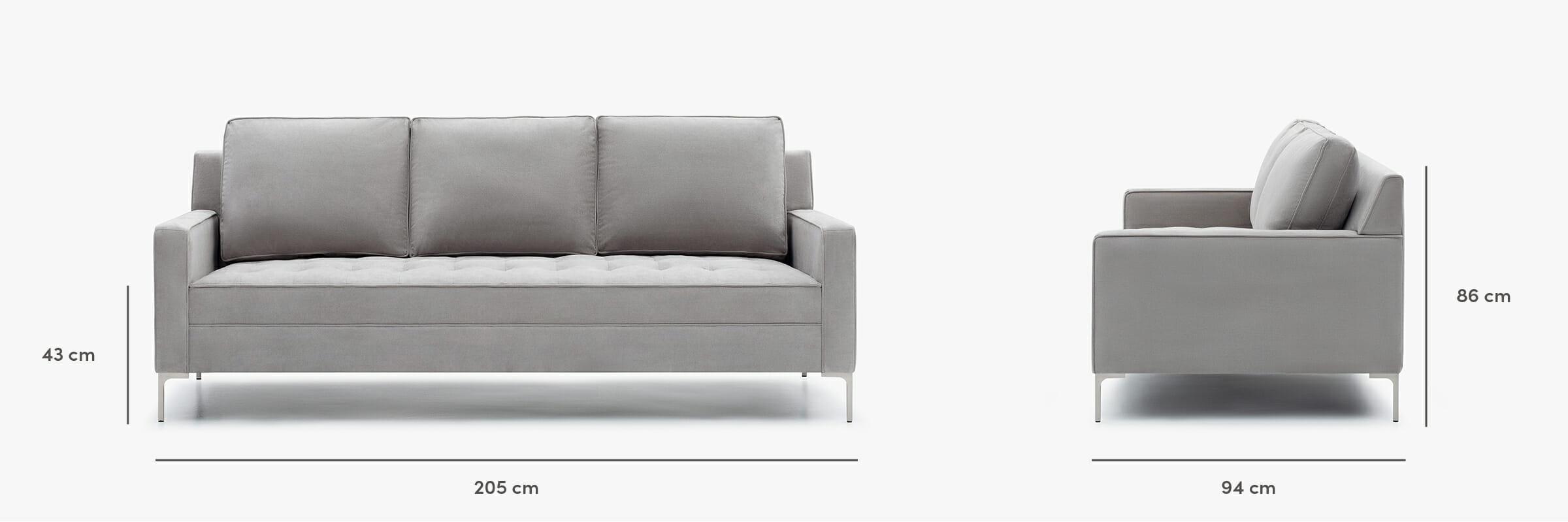Hudson sofa dimensions