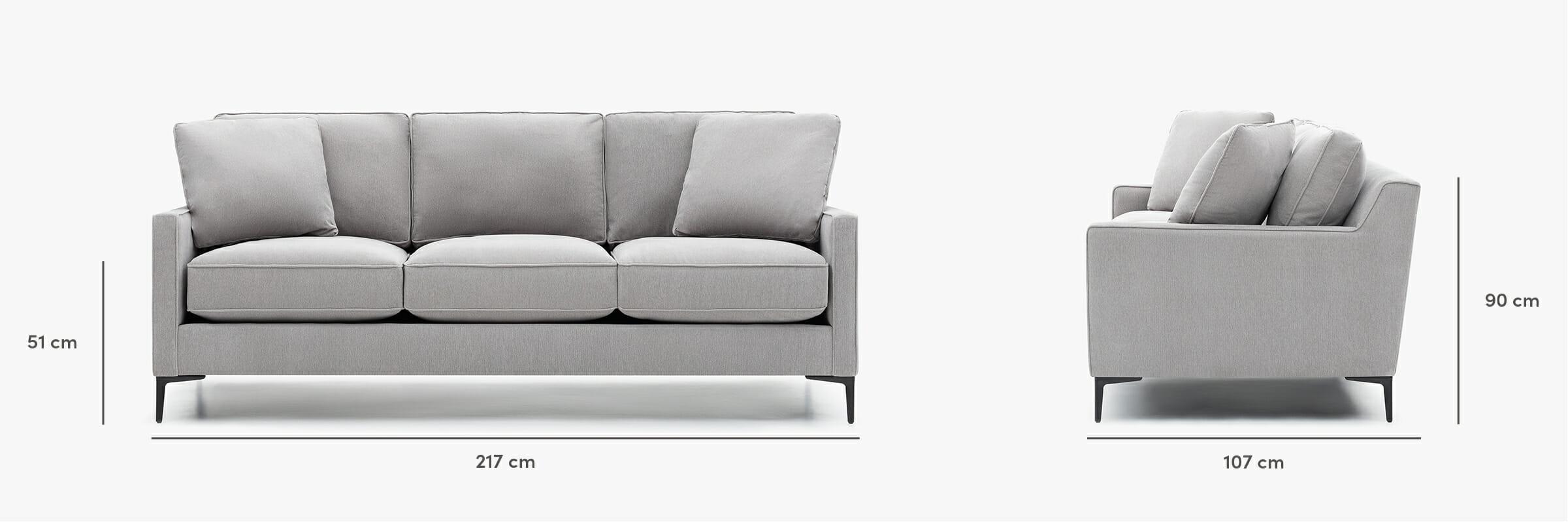 Kennedy sofa dimensions